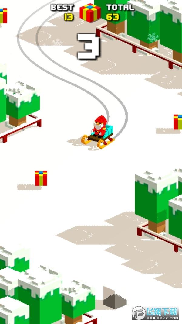像素滑轮车圣诞手游v1.0最新版截图2