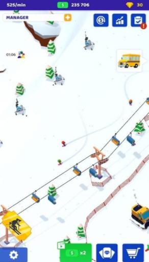 空闲滑雪大亨手游1.0最新版截图1