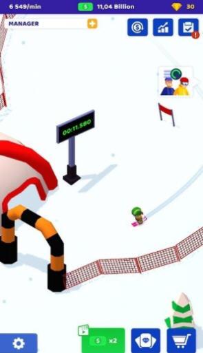 空闲滑雪大亨手游1.0最新版截图2